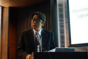 来賓の挨拶を行う伊藤 宗太郎科学技術振興機構副理事